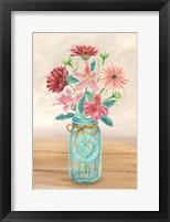 Framed Floral Jar I