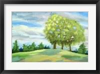 Framed Green Horizon Landscape