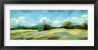 Framed Lavender Breeze Panel Green