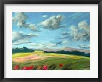 Framed Scarlet Meadow Green
