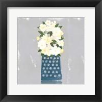 Framed Contemporary Flower Jar I