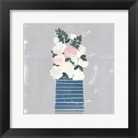 Framed Contemporary Flower Jar II