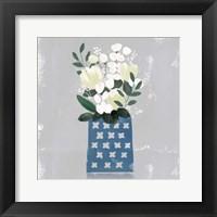 Framed Contemporary Flower Jar III