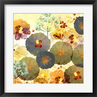 Framed Textured Hedgerow Rust Square