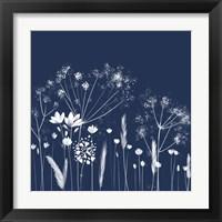 Framed Indigo Flowers I