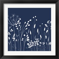 Framed Indigo Flowers II