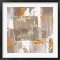 Framed Icescape Abstract Grey Gold II