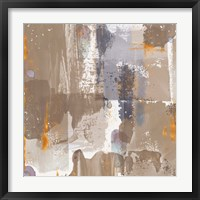 Framed Icescape Abstract Grey Gold IV