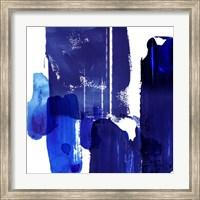 Framed Indigo Abstract I