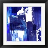 Framed Indigo Abstract II