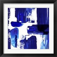 Framed Indigo Abstract III