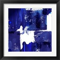 Framed Indigo Abstract IV