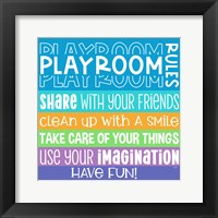 Framed Playroom Rules I