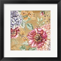 Framed Wildflower Medley Square Gold II