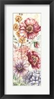 Framed Wildflower Medley Panel Cream I
