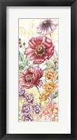 Framed Wildflower Medley Panel Cream II