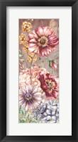 Framed Wildflower Medley Panel Gold I