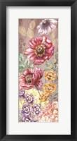 Framed Wildflower Medley Panel Gold II
