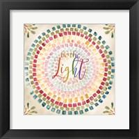 Mosaic Rainbow Round I Framed Print