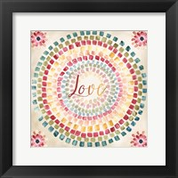 Mosaic Rainbow Round III Framed Print
