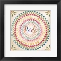 Mosaic Rainbow Round IV Framed Print