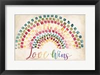 Framed Mosaic Rainbow landscape