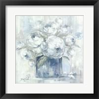 Framed White Peonies