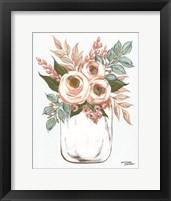 Framed Floral Jar