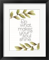 Framed Greenery Soul Shine