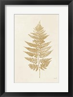 Framed Fern Print I Gold No Shiplap