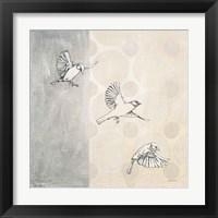 Framed Sparrows Alighting