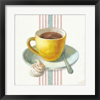 Framed Wake Me Up Coffee IV with Stripes