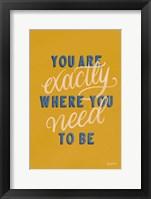 Framed Encouraging Words - Exactly