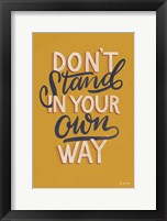 Framed Encouraging Words - Stand
