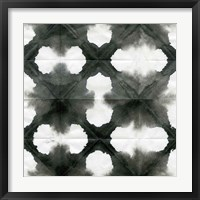 Framed Aquarelle Black and White Square XIII