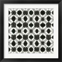 Framed Aquarelle Black and White V