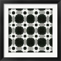 Framed Aquarelle Black and White I
