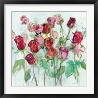 Framed Wild Roses Bright