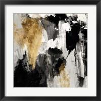 Framed Neutral Gold Collage IV