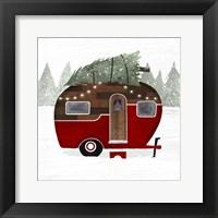 Framed Yuletide Camper I