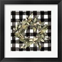 Framed Modern Gingham Christmas II