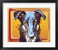 Framed Pop Dog I