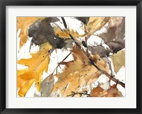 Framed Watercolor Autumn Leaves I