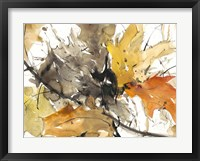 Framed Watercolor Autumn Leaves II