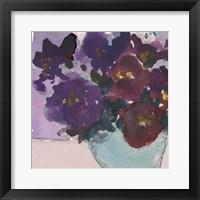 Framed African Violet I