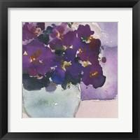 Framed African Violet II