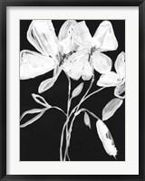 Framed White Whimsical Flowers I