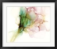 Framed Pink & Turquoise Bloom I