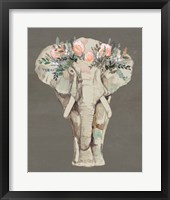 Framed Flower Crown Elephant II