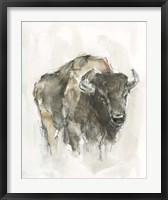Framed American Buffalo I